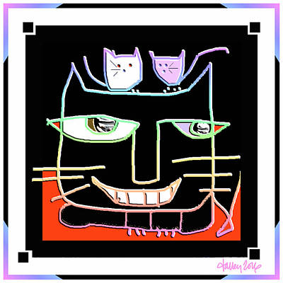 Digital Art - Here,  Kitty Kitty by Larry Talley