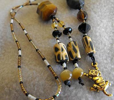 Delica Beads Jewelry - Here Kitty Kitty by Rhiannon Strickler