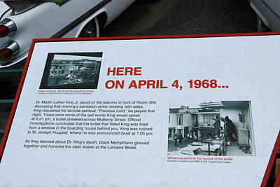Photograph - Here On April 4, 1968 by Allen Beatty