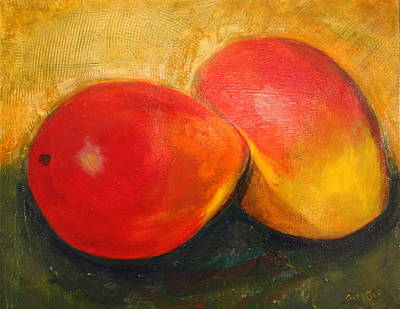 Painting - Here We Mango Again by Gitta Brewster