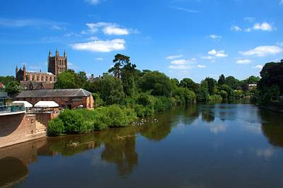 Photograph - Hereford Skyline by Chris Day