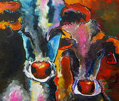 Painting - Hereford's In Spring by Patti Schermerhorn