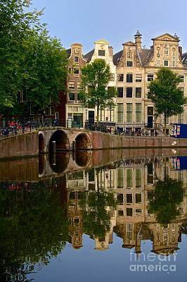 Herengracht Canal. Amsterdam. Netherlands. Europe Art Print by Bernard Jaubert