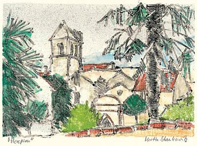 Herepian Village In Provence Art Print