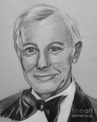 Johnny Carson Drawing - Here's Johnny by Sharon Ackley