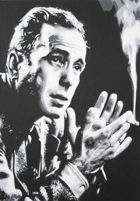 Bogart Painting - Heres Looking At You Kid by Luis Ludzska