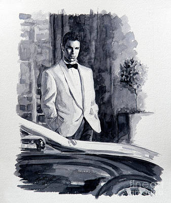 Noir Painting - Here's Looking At You by Theo Michael