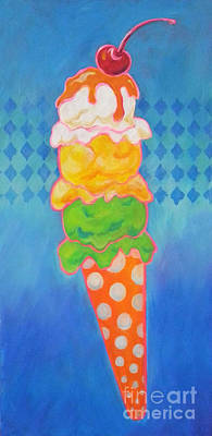 Children Ice Cream Digital Art - Here's The Scoop by Carol McIntyre