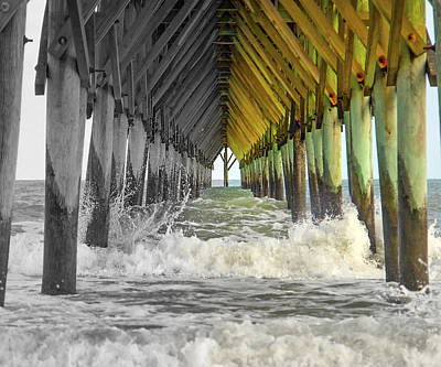 Waves Photograph - Here's Your Light At The End Of The Tunnel by Betsy Knapp