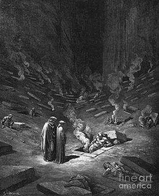 Gustave Wall Art - Drawing - Heresiarchs by Gustave Dore