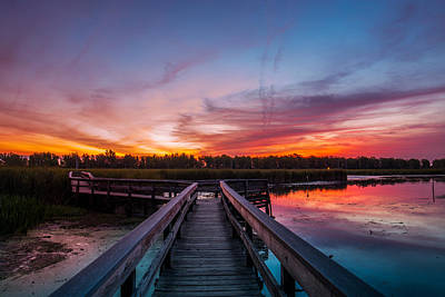 Photograph - Heritage Boardwalk Twilight by Chris Bordeleau