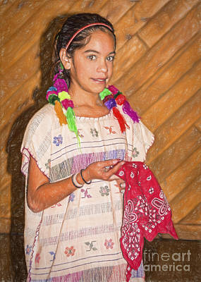 Hispanic Drawing - Heritage Dance by Janice Rae Pariza