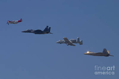 A-10a Thunderbolt Ii Photograph - Heritage Flight Fly Over by Cathy Gregg
