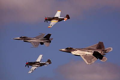 Photograph - Heritage Flight Nas Oceana 91610  4 by Donna Corless