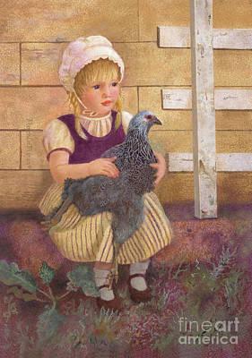 Painting - Heritage Hen Brahma Chicken by Nancy Lee Moran