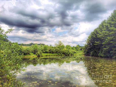 Summer Photograph - Heritage Park Reflections by Kerri Farley