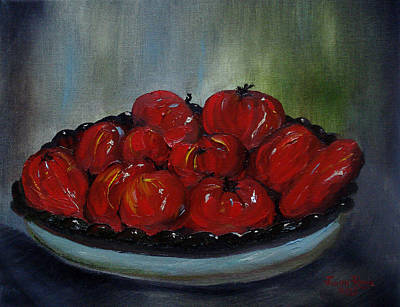 Cookbook Painting - Heritage Tomatoes by Judith Rhue