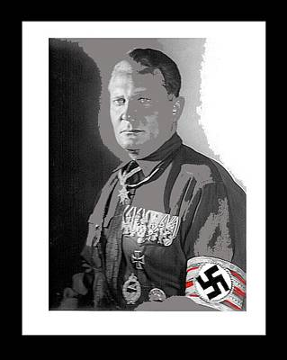 Photograph - Herman Goering  Wearing The Blue Max Around His Neck 1932 Color And Frames Added 2016 by David Lee Guss