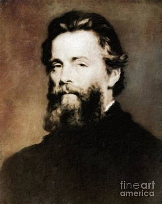 Herman Melville, Literary Legend By Mary Bassett Art Print by Mary Bassett