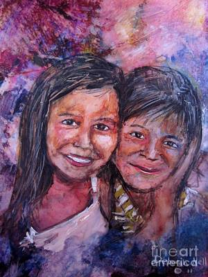 Nicaragua Painting - Hermanas by Deborah Nell