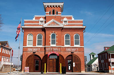 Photograph - Hermann Fire House by Steve Stuller