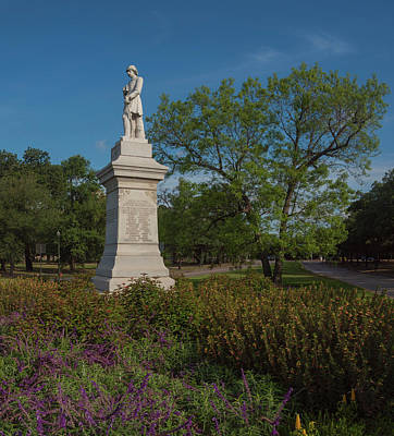 Photograph - Hermann Park Confederate Monument by Joshua House