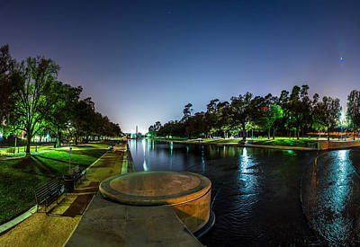 Hermann Park Reflecting Pool In Houston Texas Art Print by Micah Goff