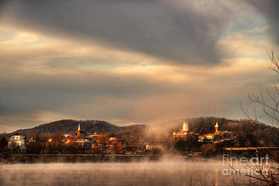 Missouri River Digital Art - Hermann Rising From The Mists by William Fields