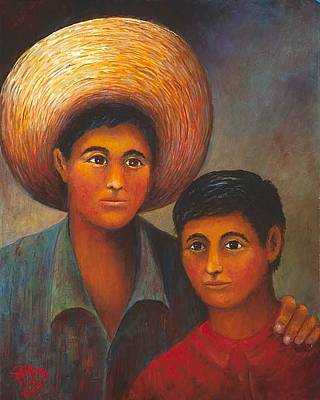 Brotherly Love Painting - Hermanos  by Herman Sillas