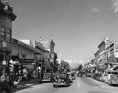 Photograph - Hermans Coffee Shop,  The Royal Hotel, Blue Bell Coffe Shop,  Alvarado  St. by California Views Mr Pat Hathaway Archives