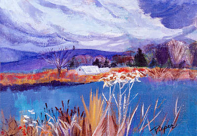Art Print featuring the painting Herman's Pond by Betty Pieper