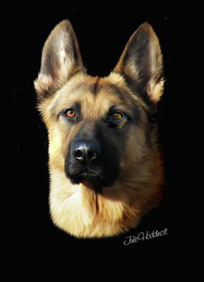 Pet Portraits Digital Art - Hermes by Julie L Hoddinott
