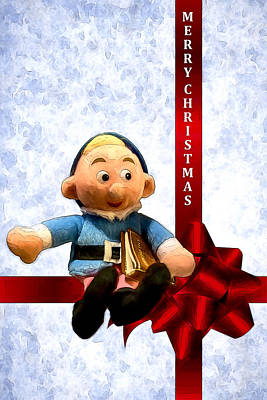 Digital Art - Hermey The Dentist Elf by John Haldane