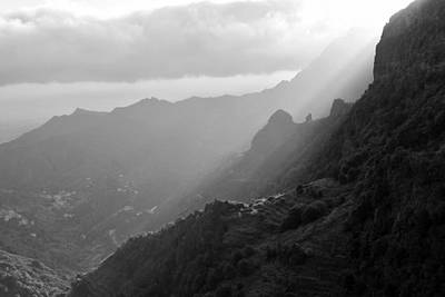 Photograph - Hermigua Valley La Gomera Monochrome by Marek Stepan