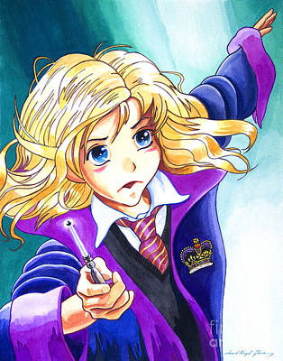 Hermione Art Print by David Lloyd Glover