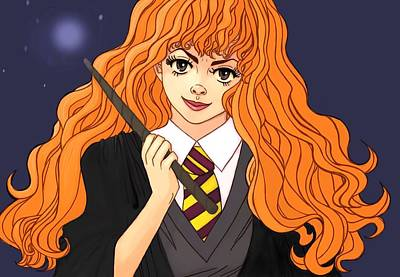 Hermione Granger Painting - Hermione Granger  by Jennifer Campbell