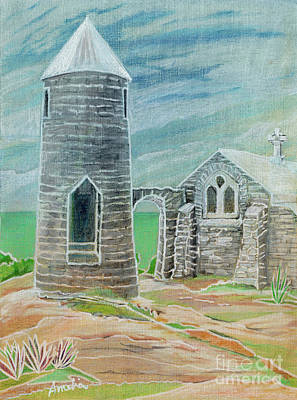 Painting - Hermitage At Mt. Alvernia, Cat Island by Amelia at Ameliaworks