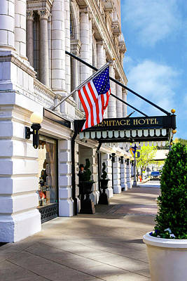 Photograph - Hermitage Hotel Nashville by Chris Smith