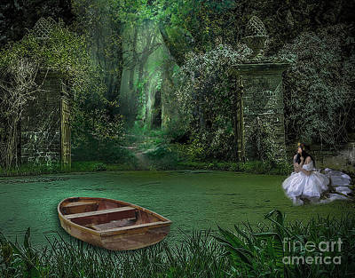 Row Boat Mixed Media - Hermitage Nuptial by Tammera Malicki-Wong