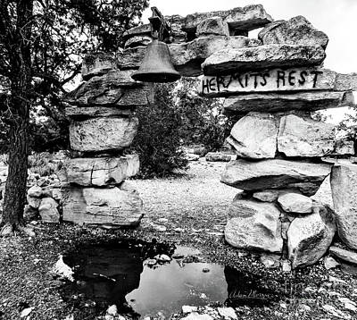 Hermit's Rest, Black And White Art Print