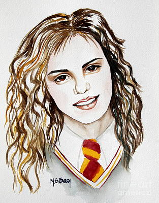 Painting - Hermoine Granger by Maria Barry
