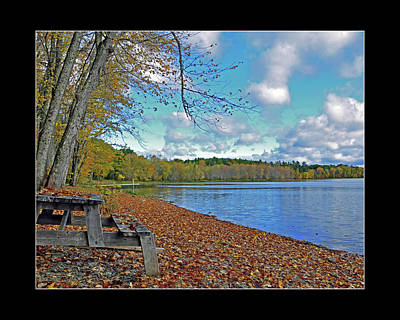 Photograph - Hermon Pond Picnic by Glenn Gordon