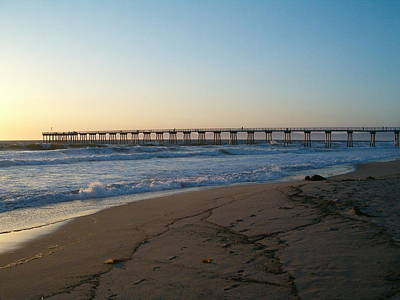 Photograph - Hermosa Beach Pier At Sunset by Mark Barclay
