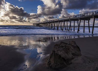 Photograph - Hermosa Beach Pier by Ed Clark