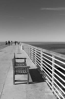 Hermosa Beach Seat Art Print by Ana V Ramirez