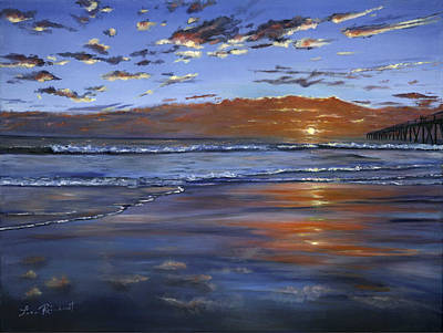 Painting - Hermosa Sunset by Lisa Reinhardt