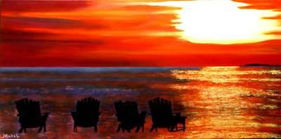 Wall Art - Painting - Hernando Beach by Laura Gabel