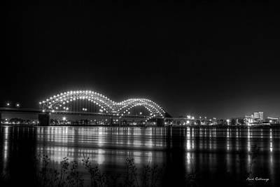 Hernando De Soto Bridge M Bridge Dolly Parton Bridge Memphis Tn Art Print by Reid Callaway