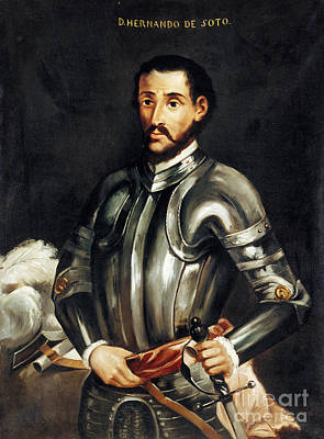 Painting - Hernando De Soto by Granger