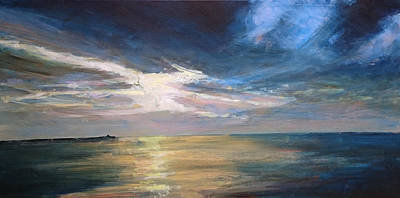 Painting - Herne Bay Sunset by Paul Mitchell
